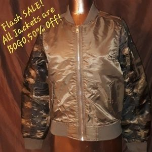 ** South Pole Bomber Jacket Green Olive Camo Print